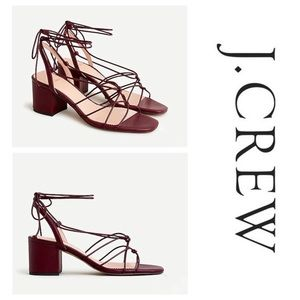 J.Crew Odette knotted sandals in leather